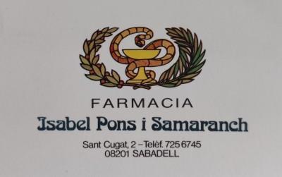 Farmàcia Pons i Samaranch